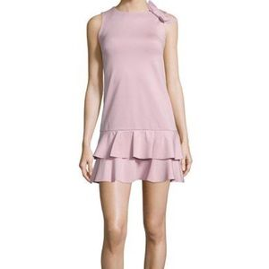 Red Valentino Lilac Ruffled Shift Dress Side-Bow